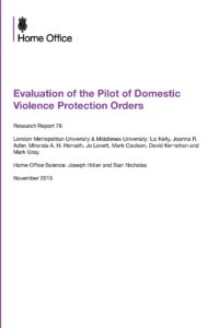 Evaluation of Domestic Violence Protection Orders (DVPOs)