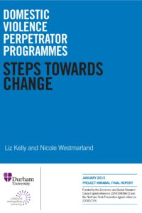Steps Towards Change: Domestic Violence Perpetrator Programmes