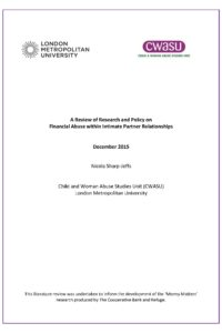 Review of research and policy on financial abuse
